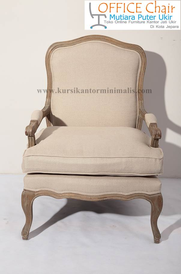 Kursi Sofa Single Kayu Jati