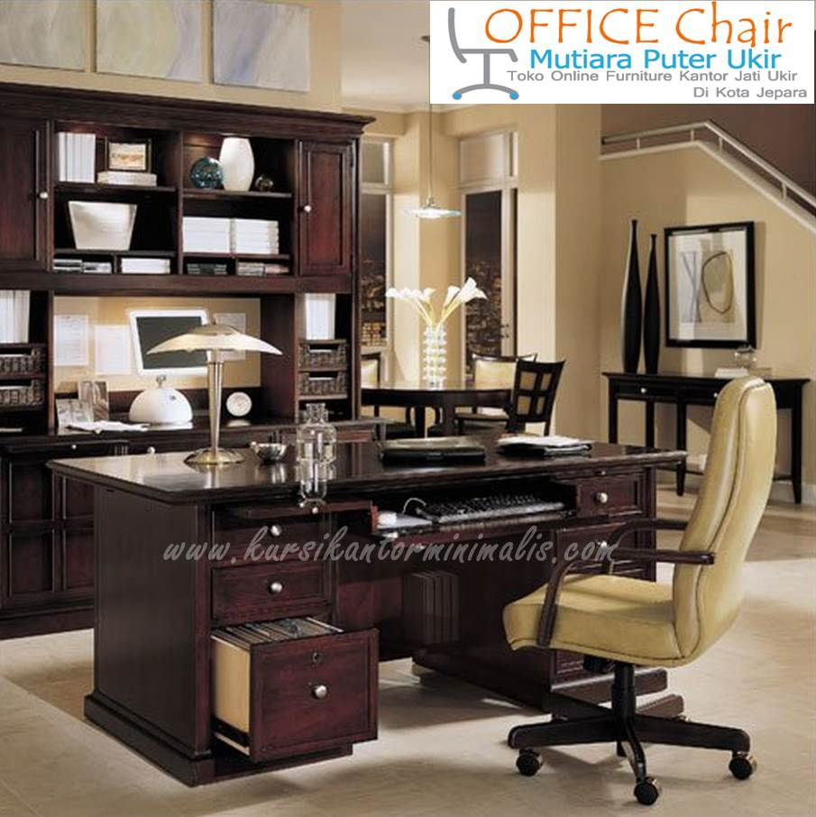 Meja Dan Kursi Kantor Kayu Jati