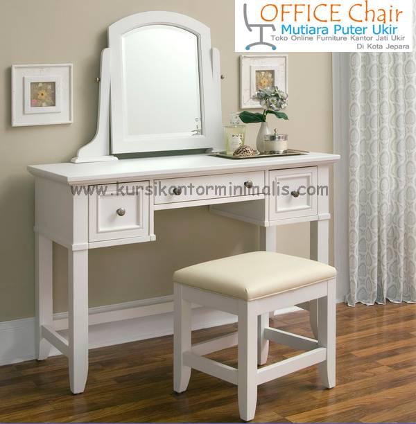 Meja Kursi Rias Duco Putih