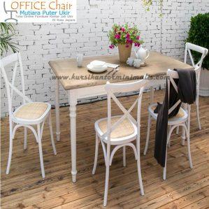 Set Meja Dan Kursi Cafe Duco Putih