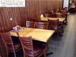 Set Meja Kursi Cafe Kayu Modern