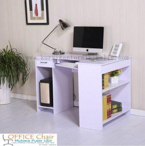 Meja Komputer Kayu Duco Putih
