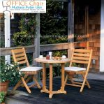 Set Meja Kursi Cafe Kayu Jati Outdoor