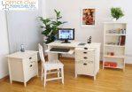 Set Meja Dan Kursi Belajar Kayu Duco Putih