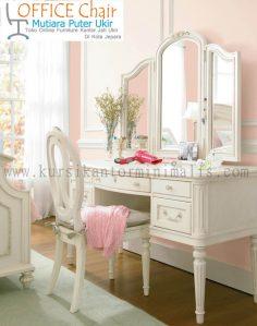 Set Meja Dan Kursi Rias Duco Putih